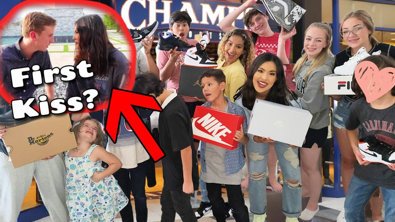 First Kiss? | 14 kids Shoe Shopping! | Back to School | Cost?