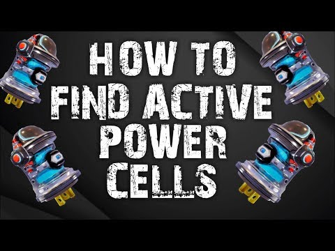 HOW TO FIND ACTIVE POWER CELL'S  Fortnite Save The World