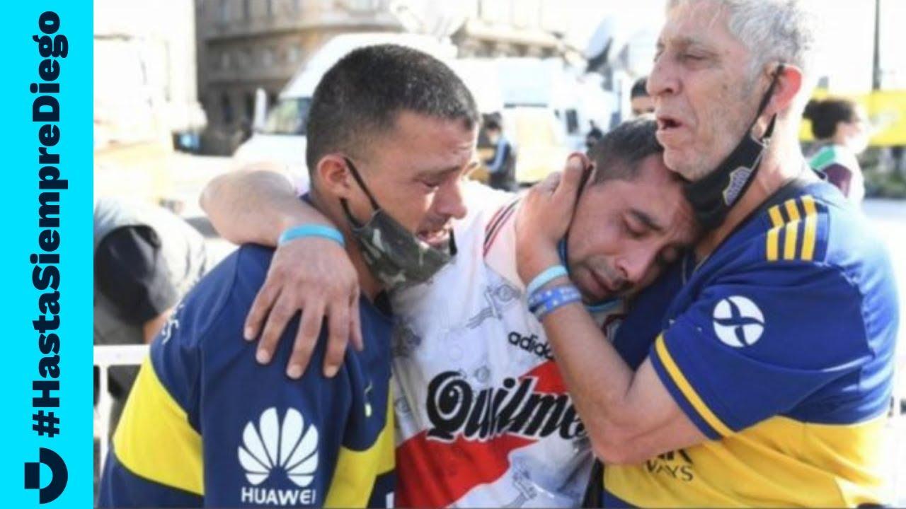 LA VOZ DE UN PUEBLO - Las imágenes más emotivas del día en que Argentina despidió a Diego Maradona