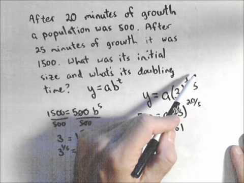 Exponential Models - Finding an Initial Population