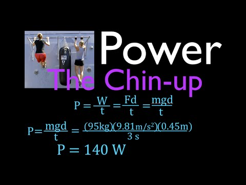 Physics, Power, Power Output When Doing a Chin-Up or Pull-Up
