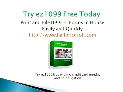 How to Print and FIle Form 1099 G