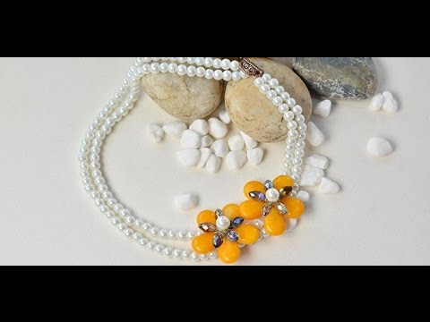 Pandahall Original DIY Project   How to Make a White Two Strand Pearl Bead Necklace