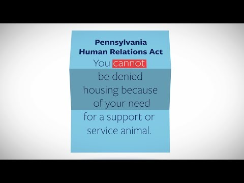 You cannot be denied housing because of your disability or need for a support or service animal.