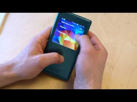 Samsung Galaxy S5 S-View case hands-on
