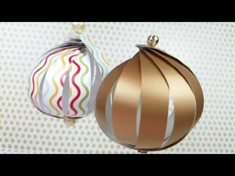 Christmas balls paper / christmas tree decorations / christmas home / room decor ideas easy for kids