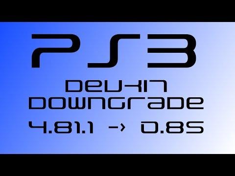 PS3 Devkit Downgrading to firmware 0.85