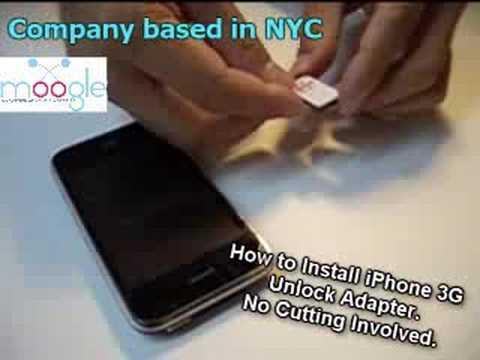 iPhone 3G Unlock No-Cut Sim Install T-Mobile Worldwide GSM