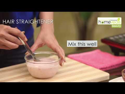 Strawberry & Milk Hair Straightener Under 30 Minutes  Easy Recipes - Homeveda Remedies