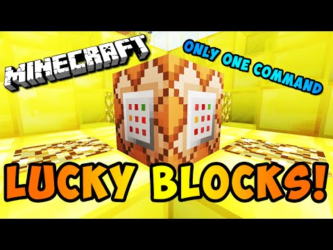 NO MOD LUCKY BLOCKS! (Minecraft Only One Command)