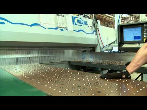 Cutting Melamine Shelving with our CNC Panel Saw