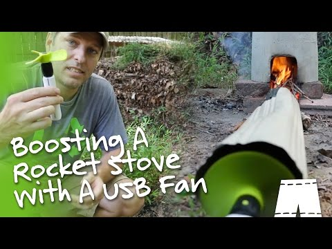 How To Boost A DIY Rocket Stove With A Fan