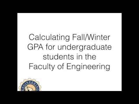 GPA calculations for Engineering students
