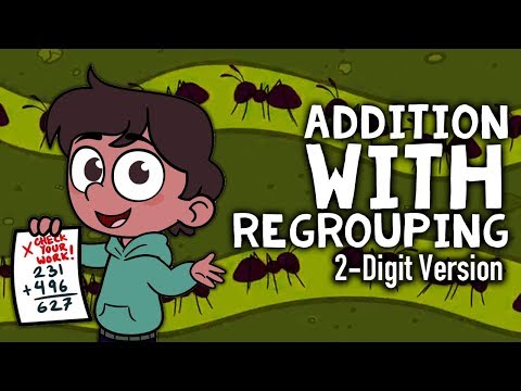 Addition with Regrouping Song | 2-Digit Addition For Kids