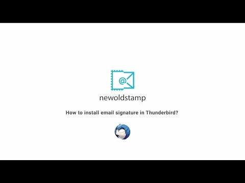 How to install a signature in Thunderbird?