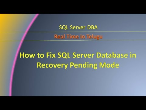 How to Fix SQL Server Database in Recovery Pending Mode