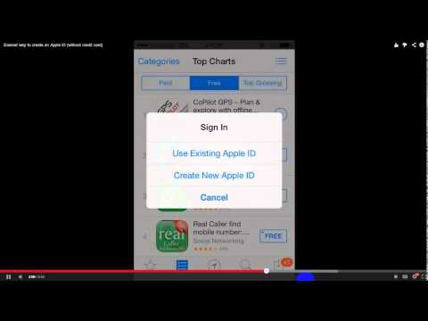 How to create an Apple ID in iphone