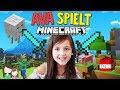 7 Jhrige Spielt Alleine Minecraft Ava Baut Ihren Unterschlupf Alles Ava