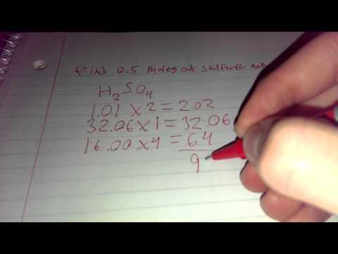 Molar mass of sulfuric acid
