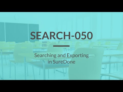 SureDone Basic Training (2 of 5): Search and Export