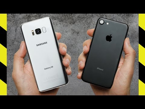 Galaxy S8 vs. iPhone 7 Drop Test!