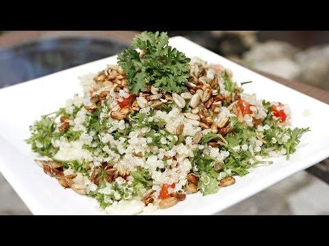 Vegan Quinoa Tabouli Salad Recipe
