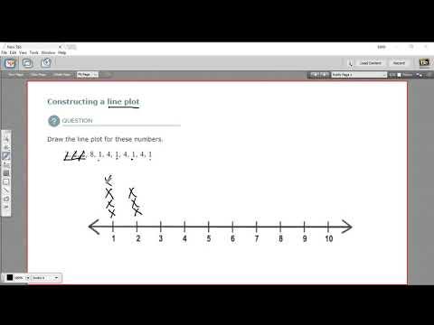 Constructing a line plot