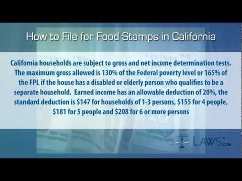 How to File for Food Stamps California
