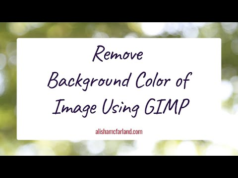 How to Remove jpg Image Color Background with Transparent Using GIMP