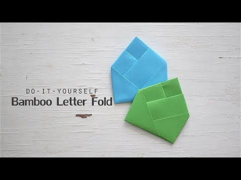 DIY: Bamboo Letter Fold