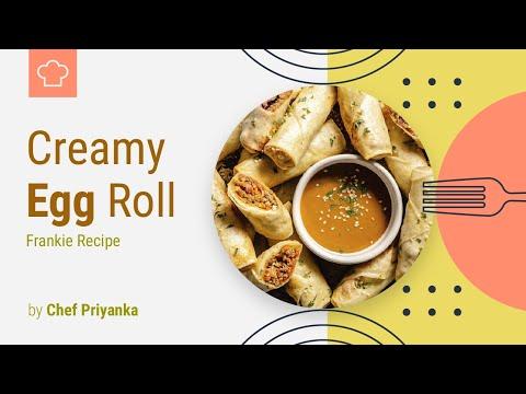 Creamy Egg Roll Recipe   Creamy Egg Frankie   Creamy Anda Roll   Street Food