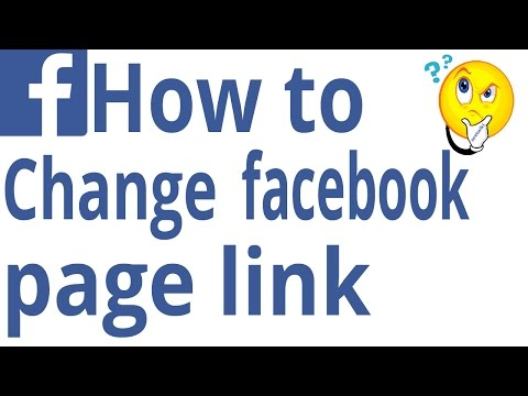 How to change facebook page link