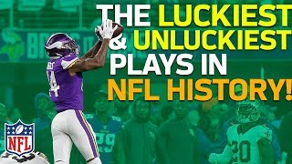 The Luckiest & Unluckiest Plays in NFL History | NFL Highlights