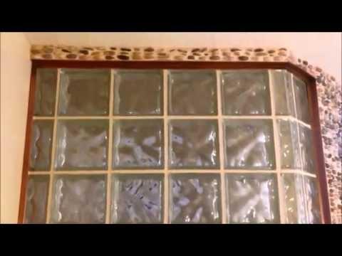 Glass Block Shower Install.  Custom