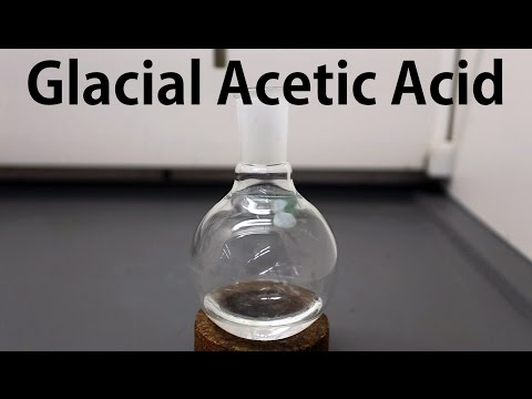 How to make Glacial Acetic Acid