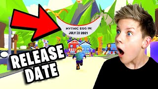 *LEAKED* Mythic Egg RELEASE DATE!! Roblox Adopt Me