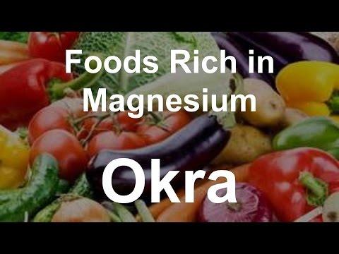 Foods Rich in Magnesium - Okra