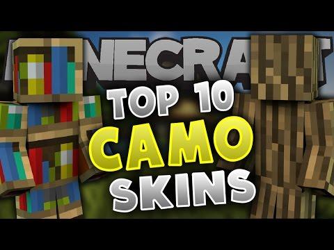 Top 10 Minecraft CAMO SKINS! - Best Minecraft Skins