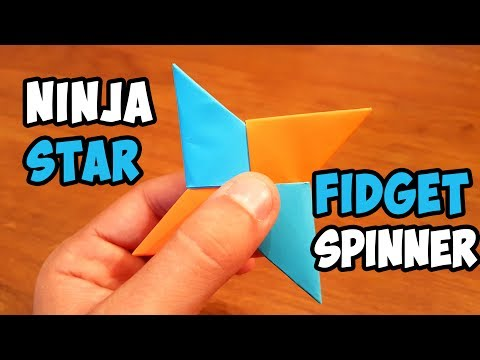 DIY Paper Ninja Fidget Spinner | Easy Ninja Star Spinner Tutorial
