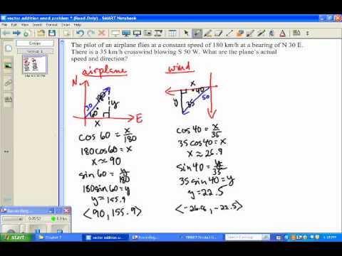 Vectors Application Word Problem