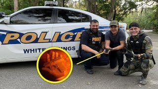 Found Gun and Human Remains Underwater in the River While Scuba Diving! (Police Called)
