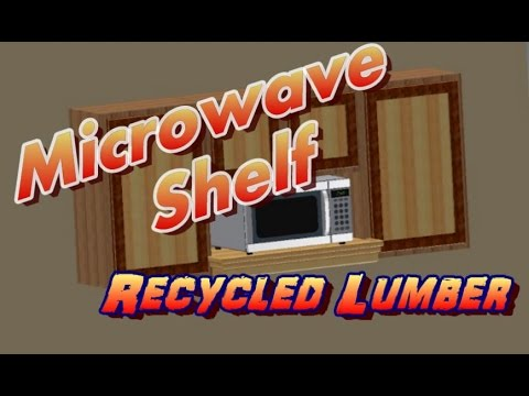 Microwave Shelf made from Recycled Lumber