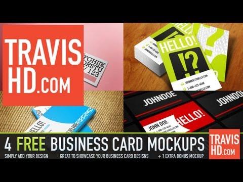 5 Free Business Card Mockup Templates