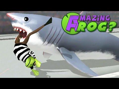 FEEDING CRIMINALS TO SHARKS - Amazing Frog - Part 43 | Pungence
