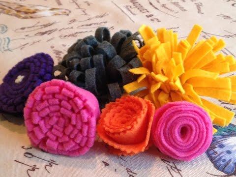DIY: How to Make Felt Craft Flowers - 5 Ways