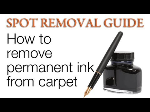 How to get ink out of carpet - Permanent ink | Spot Removal Guide