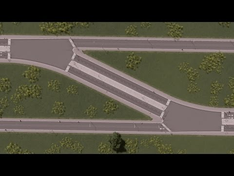 Cities: Skylines - How to make smooth intersections at curves for 4 lane roads