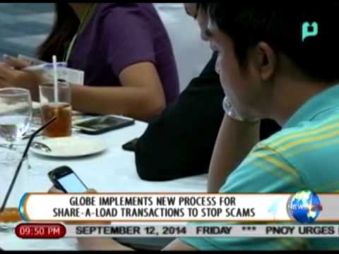 [NewsLife] Globe implements new process for Share-a-load transactions to stop scams [09|12|14]
