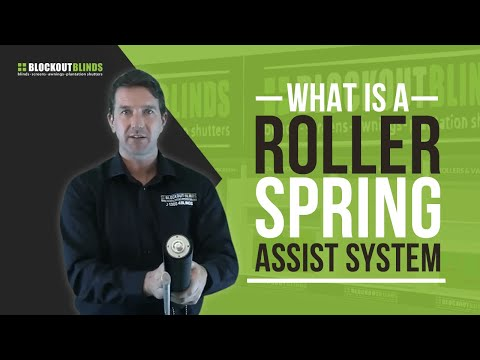 What is a roller blind spring assist system