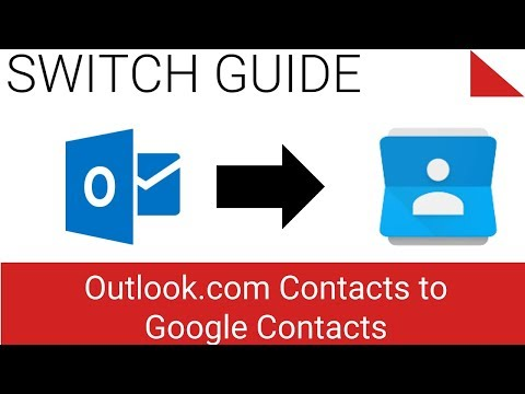 Export / Backup Contacts from Outlook.com to Google Contacts Gmail